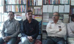 Meeting in the Christian Book store ministry run by CMA