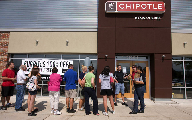 Above: Long lines being a bummer.    Mid July Shenanigans - Chipotle always makes you hungry!