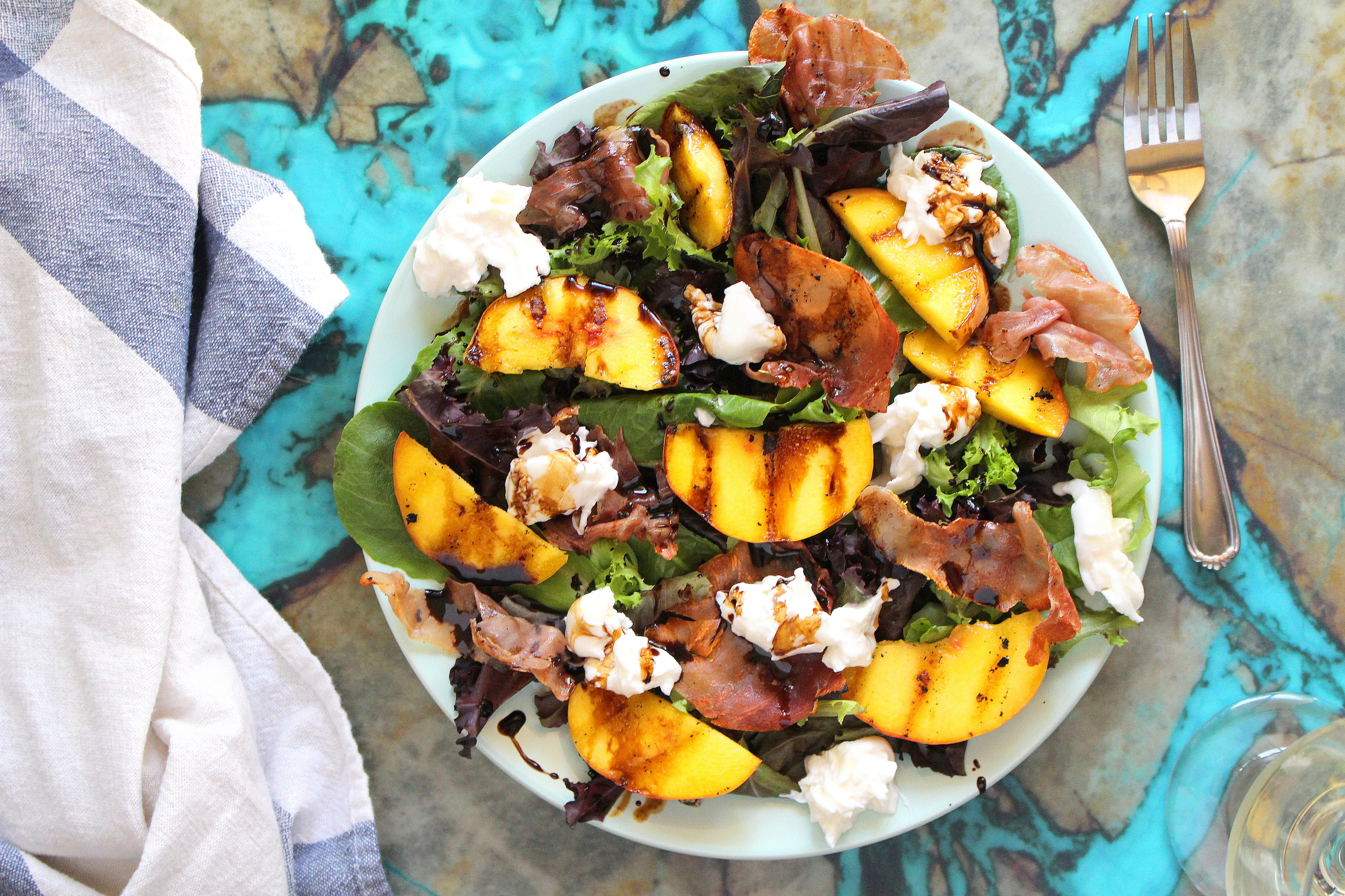 grilled peach salad-3