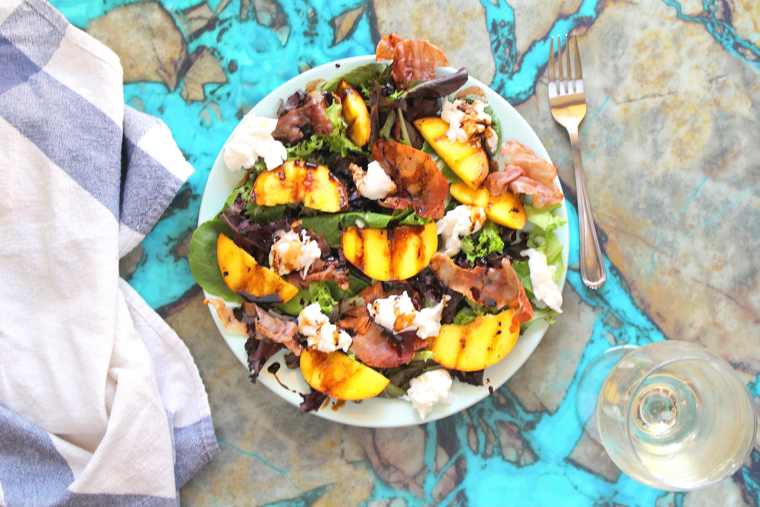 grilled peach salad-4
