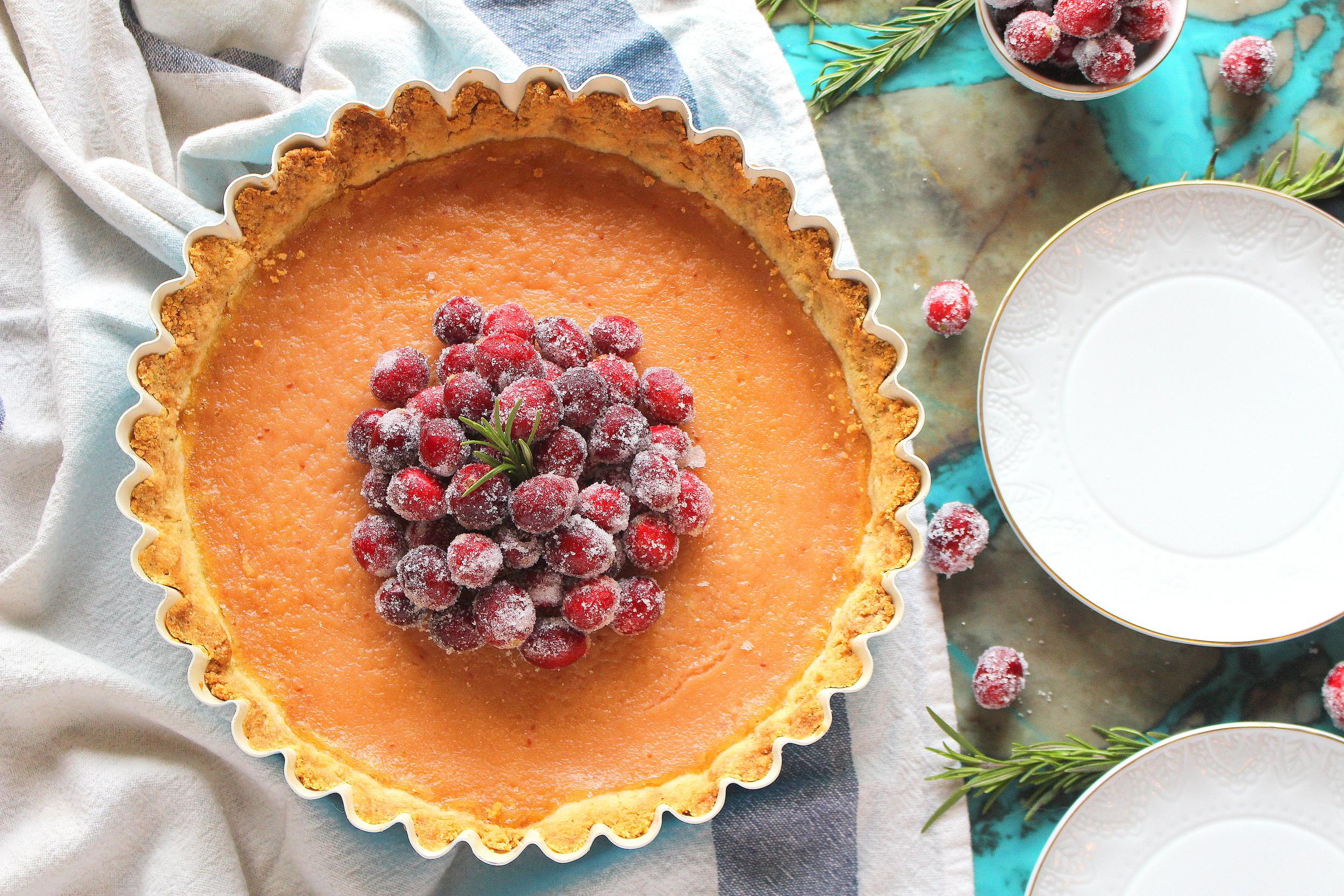 cranberry curd tart-5