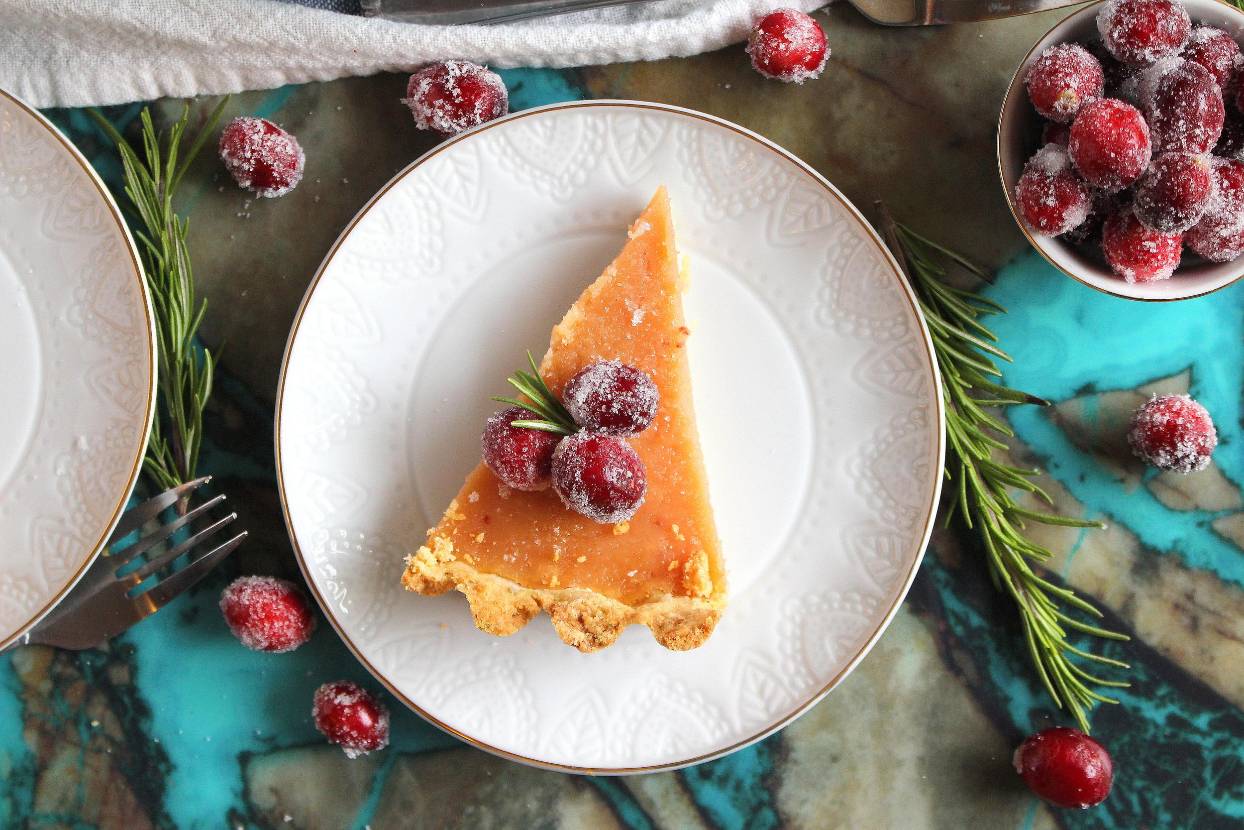 cranberry curd tart-7