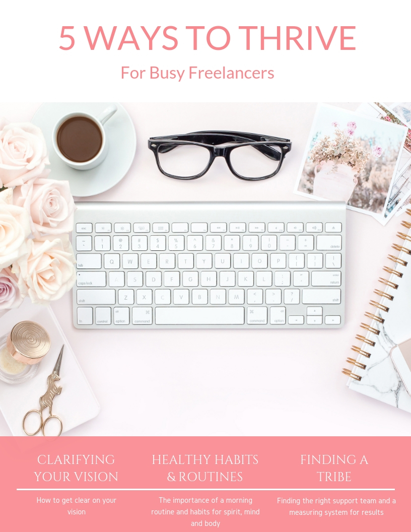 - GET OUT OF OVERWHELMNO regular schedule, last minute bookings, early call times…. The everyday hustle is hard! It can be tiring, frustrating and often filled with sacrifices. Finding the time to maintain a consistent routine or even a little self care can be a challenge. I'm sharing my favorite simple methods to stay centered and thrive as you build or up level your business.. FREE DOWNLOAD