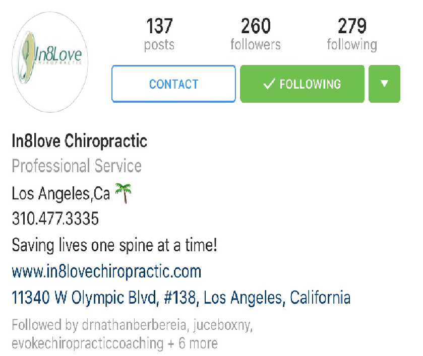 in8love chiropractic instagram bio.png