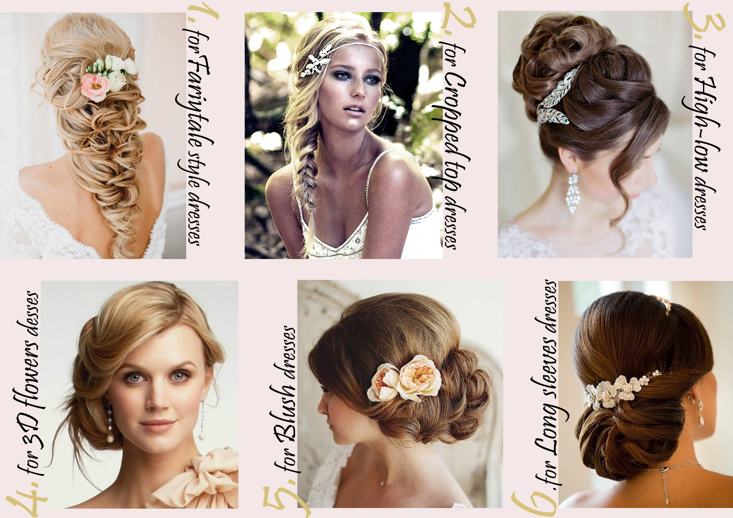 6 HAIRSTYLES FOR THE 2016 BRIDAL DRESSES