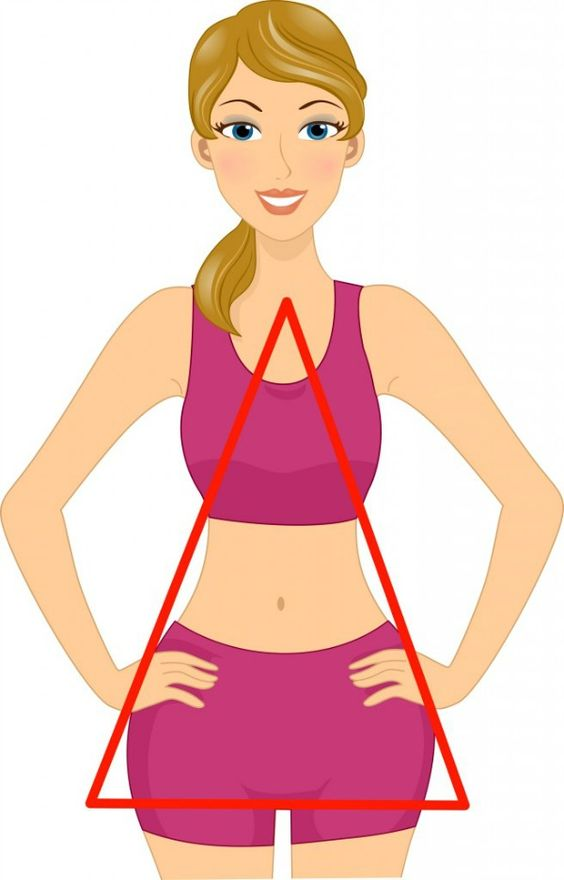 """Here a typical """"triangle"""" or """"pear""""body shape"""