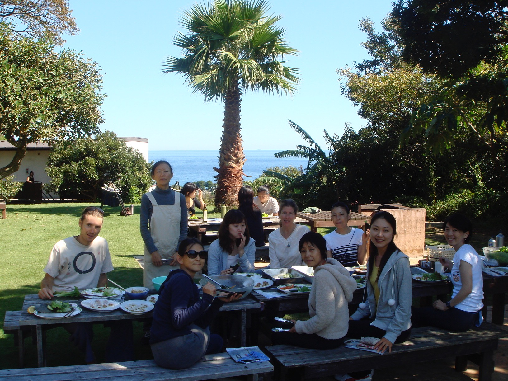 Lunch on retreat, Izu, Japan
