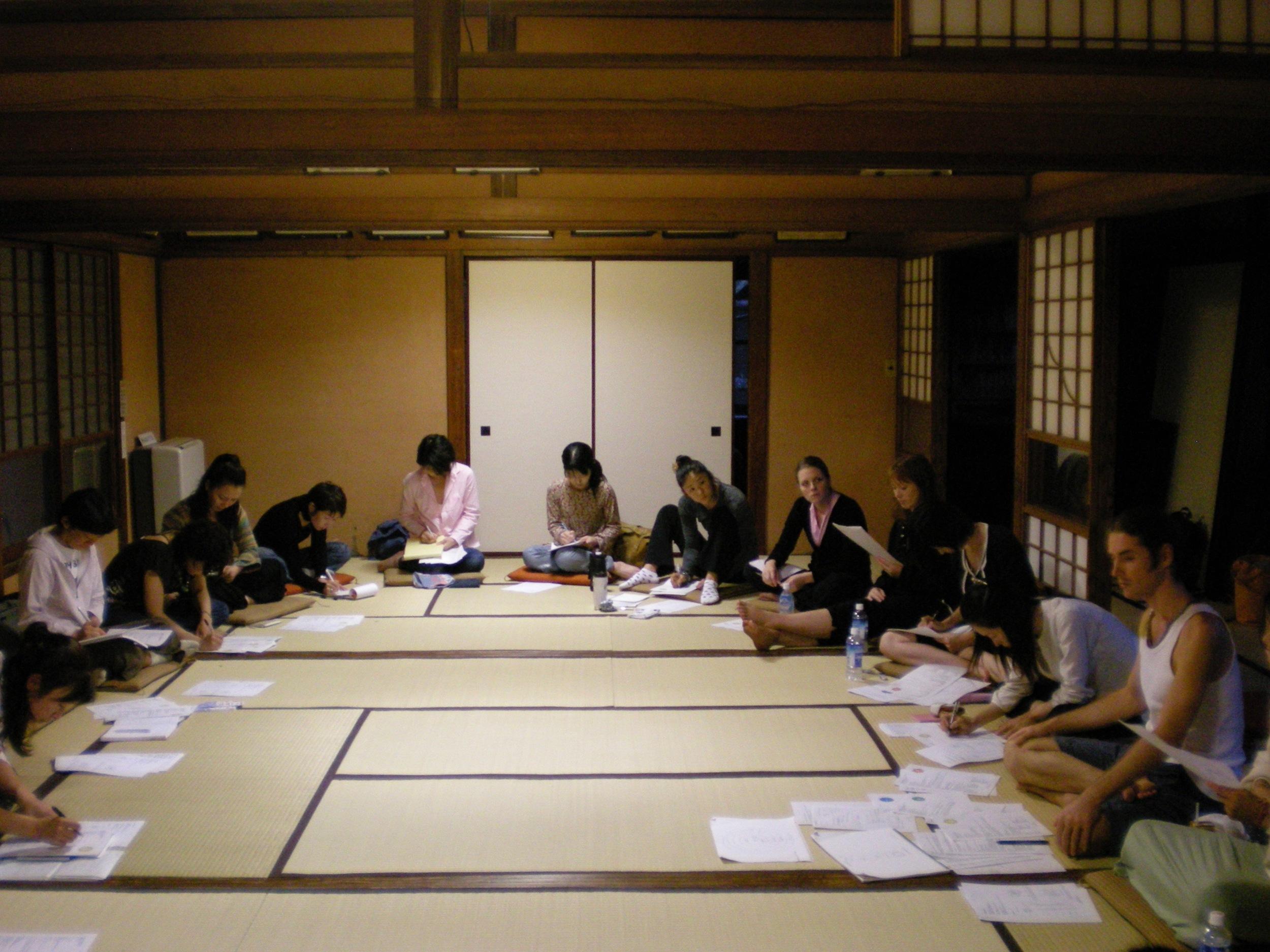 Workshop on the chakras, Kamakura, Japan