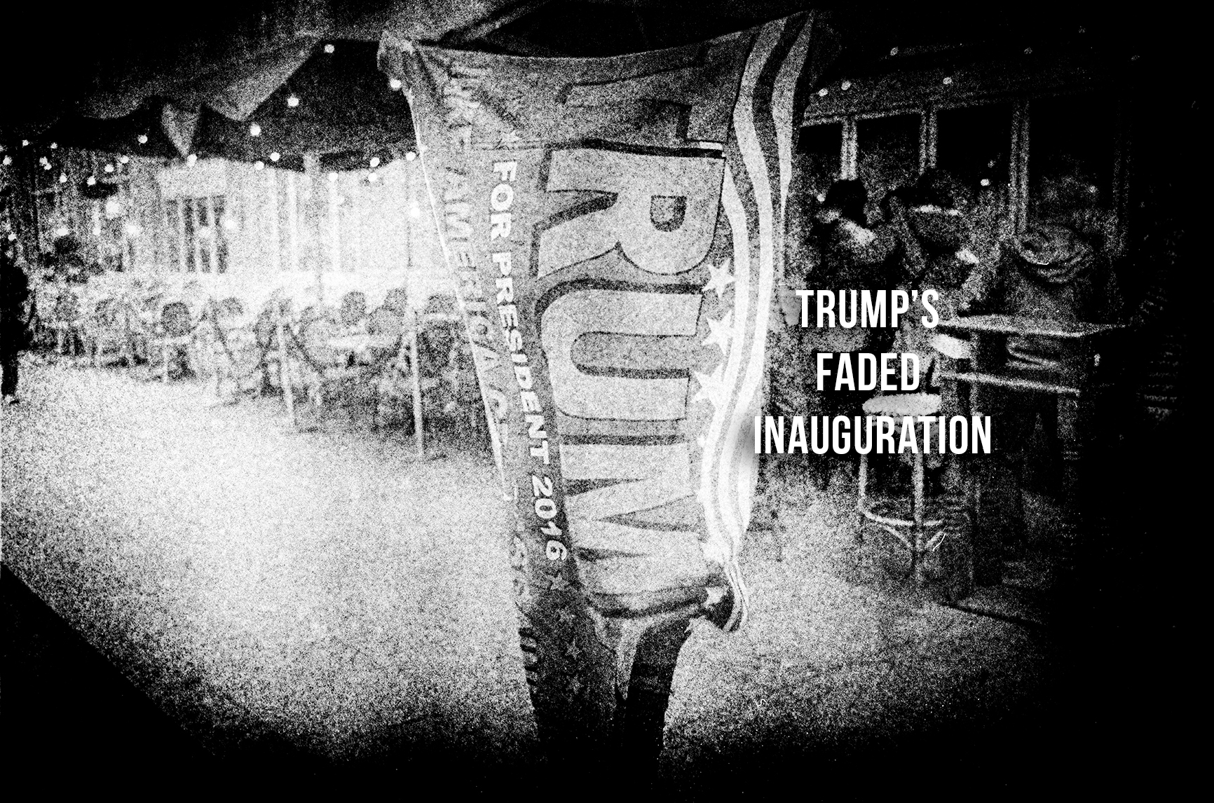 Trumps faded inauguration