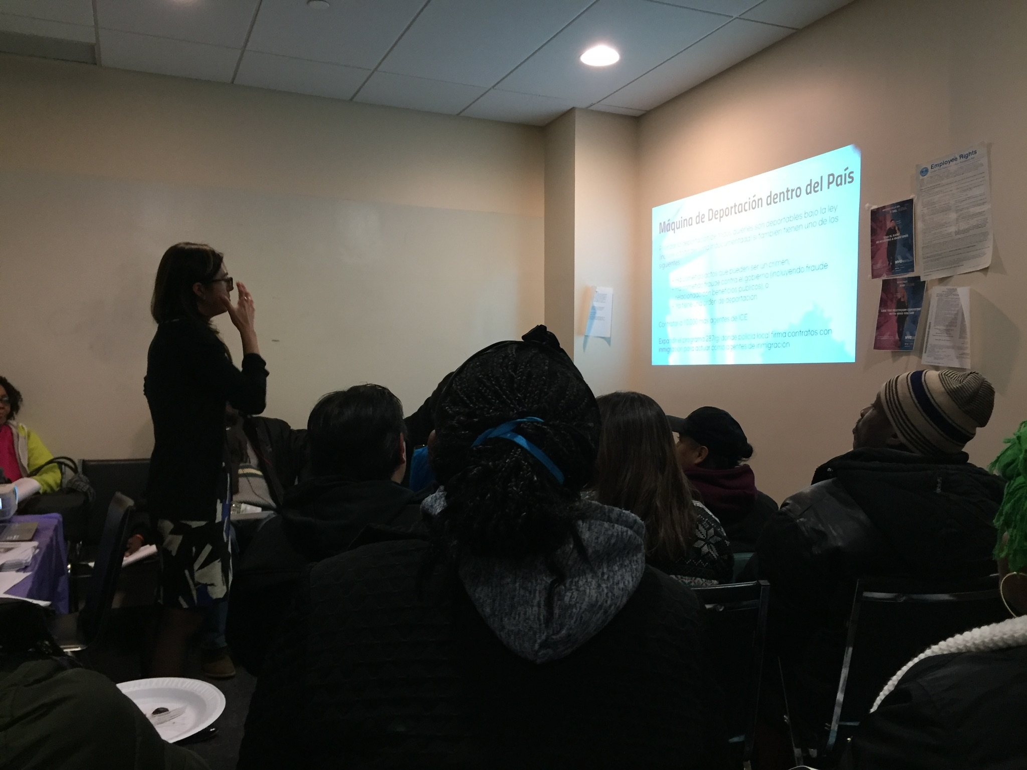 Participants gained information during the BIP Know Your Rights presentation.