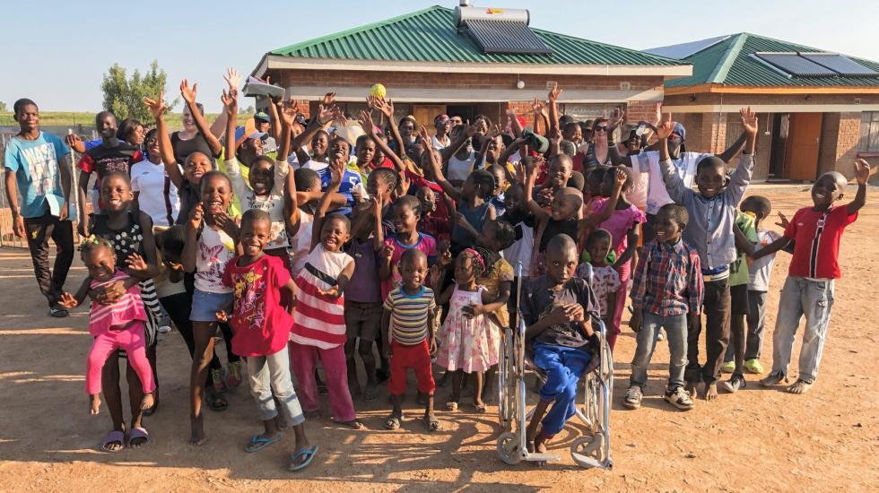 Utvidar : Midlands Children Hope Project har nyleg ferdigstilt hus nummer to på barneheimen. (Foto: Privat)