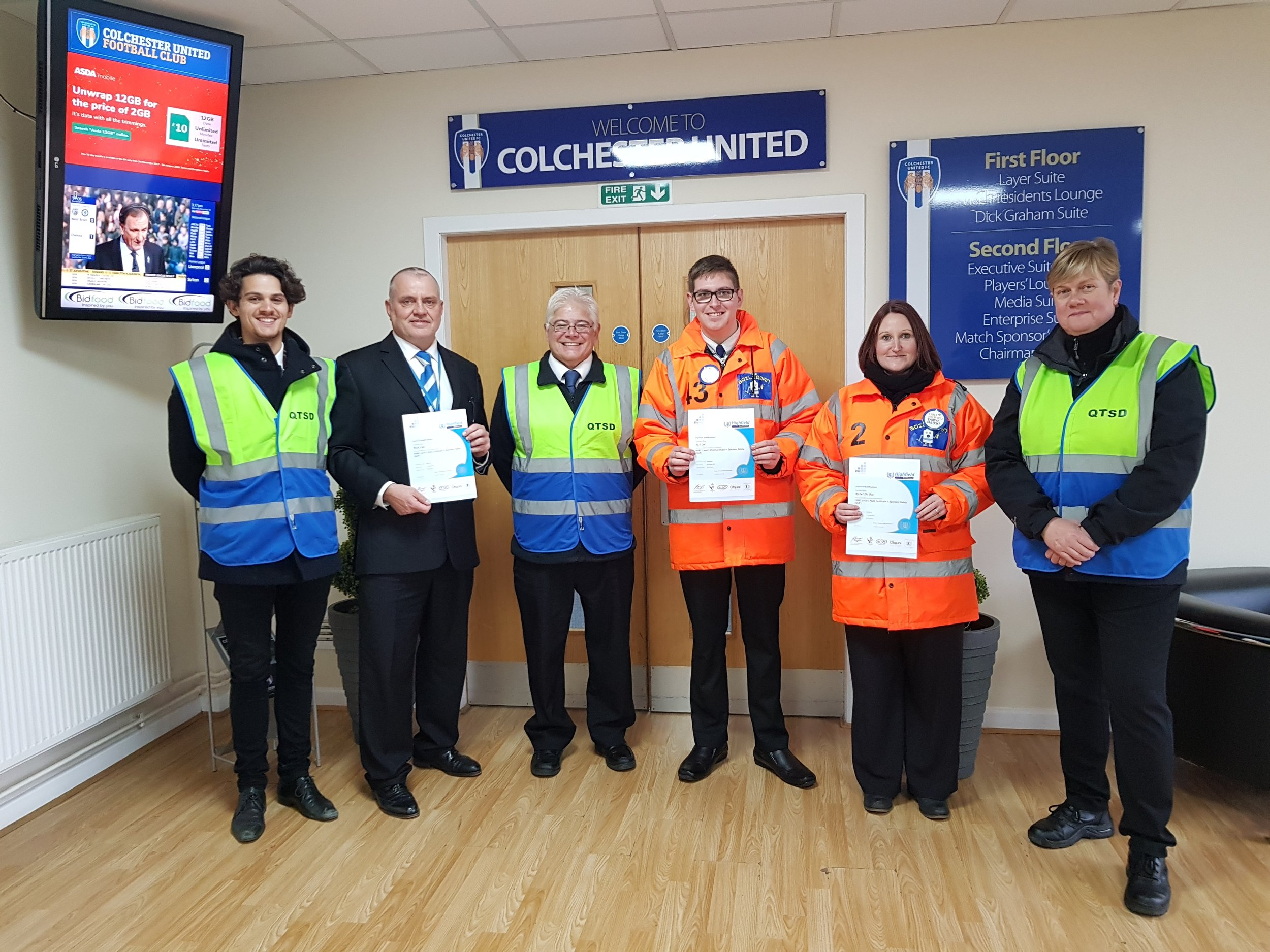 QTSD team and Colchester FC stewards 2.jpg