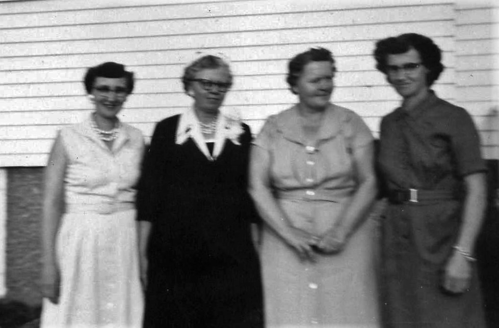 1959 Officers; President Medora Nelson, VP Clara Olson, Secretary Hazel Hendrickson, Treasurer Bertha Mathsen