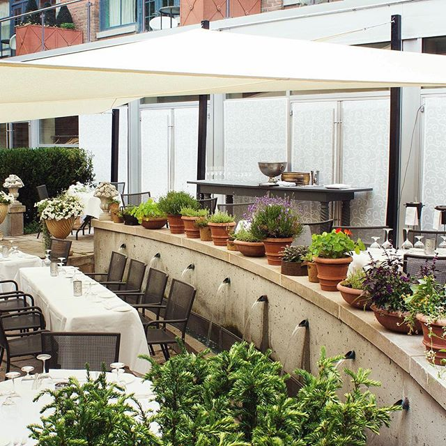 Where you'll find us on Fridays this summer…  Dining on the beautiful patio @georgeonqueen, located just beneath The Ivy.