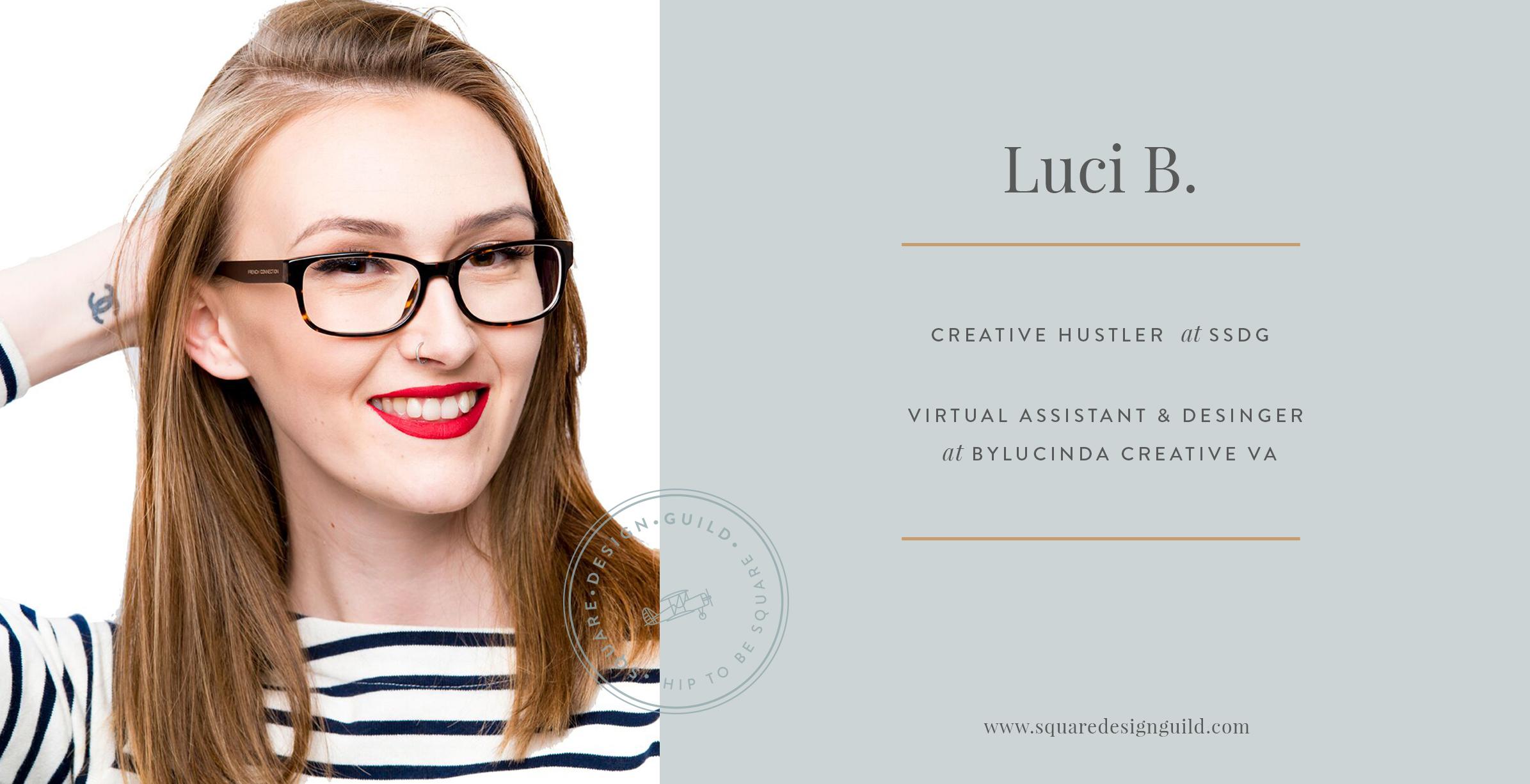 Squarespace Design Guild Interview | Lucinda Burgess-Farwell Creative VA and Designer at  byLucinda Creative VA