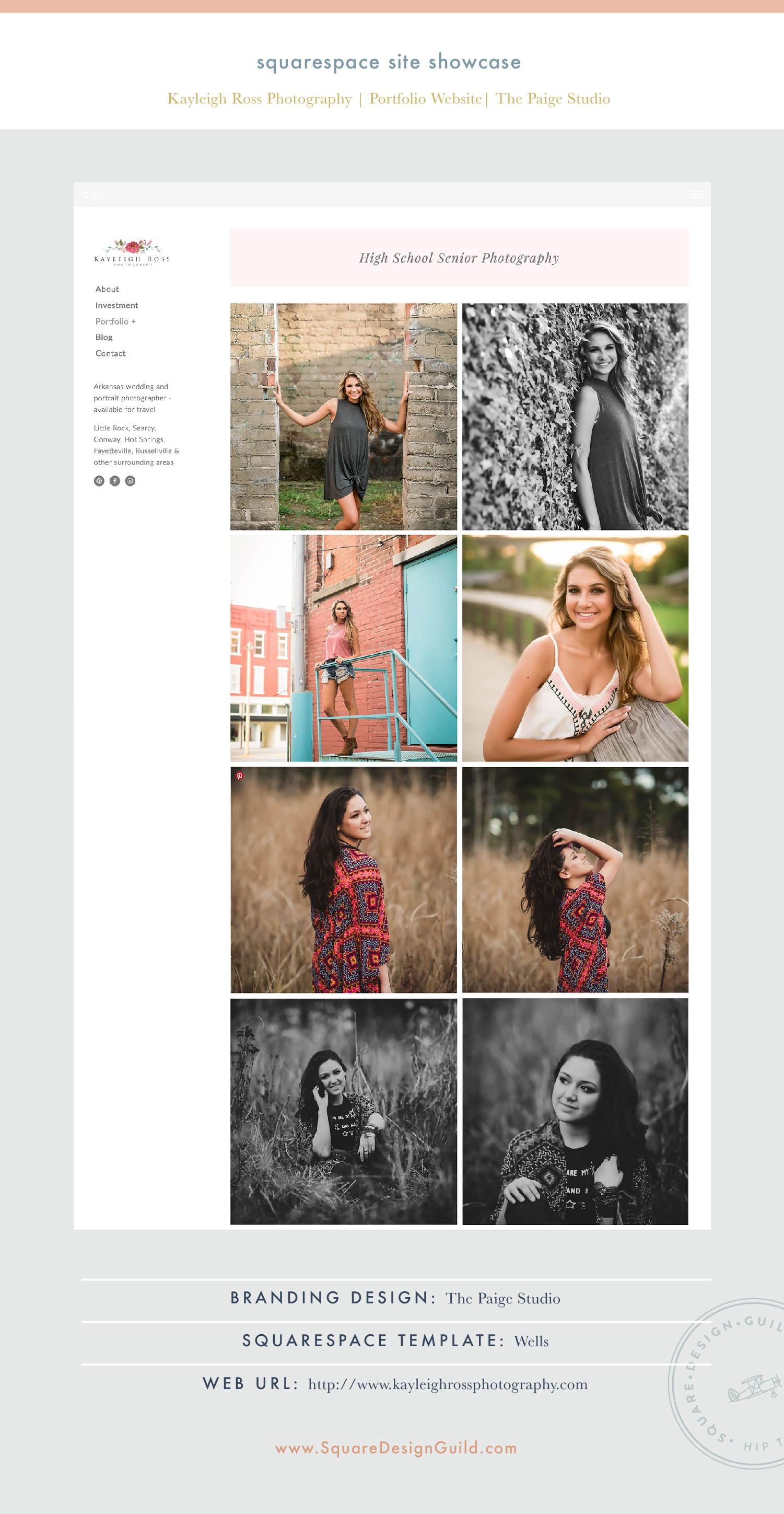 Square Design Guild | Squarespace Site Showcase: Kayleigh Ross Photography | Portfolio Website on Wells
