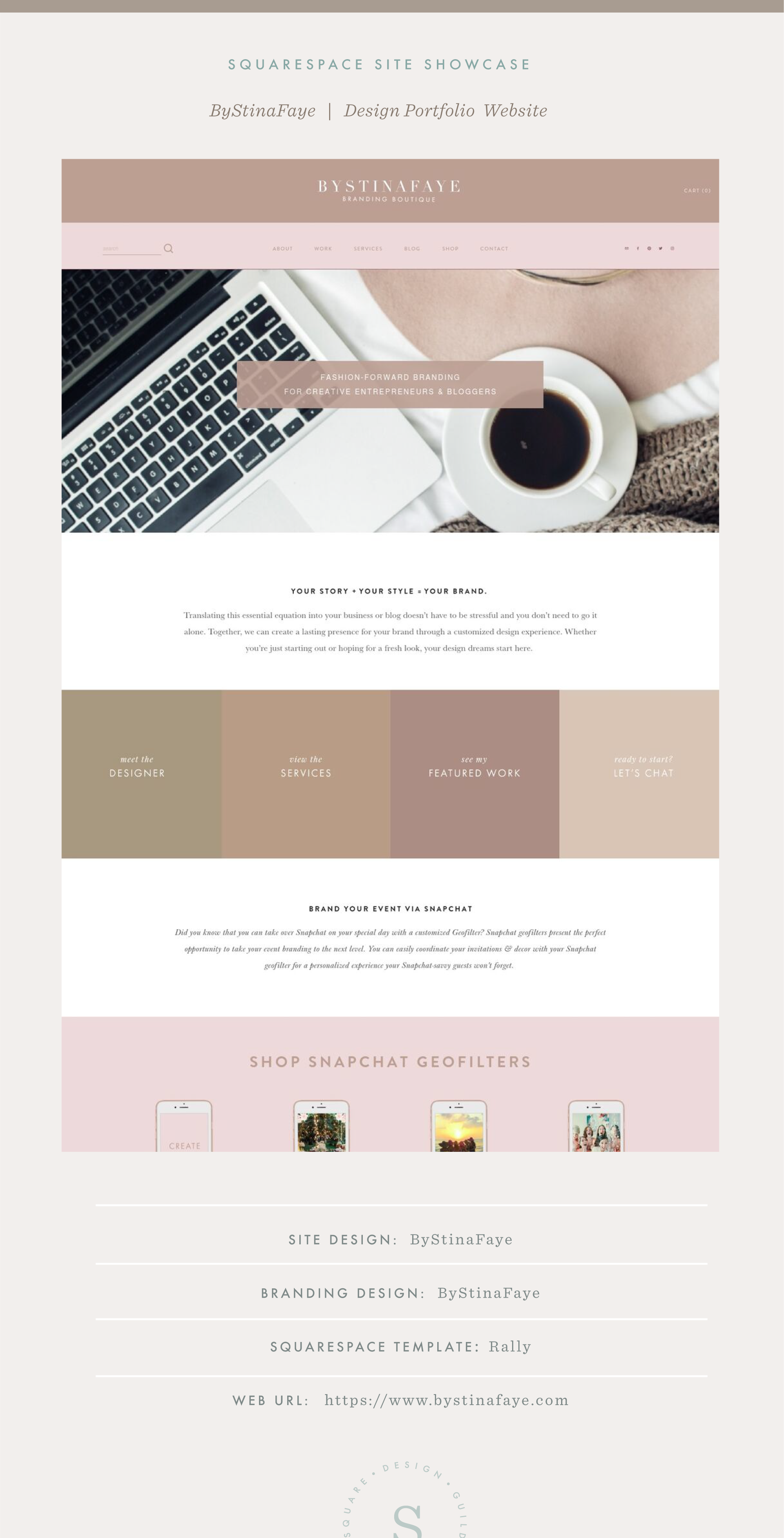 Square Design Guild | Squarespace Site Showcase: ByStinaFaye Portfolio Design Website