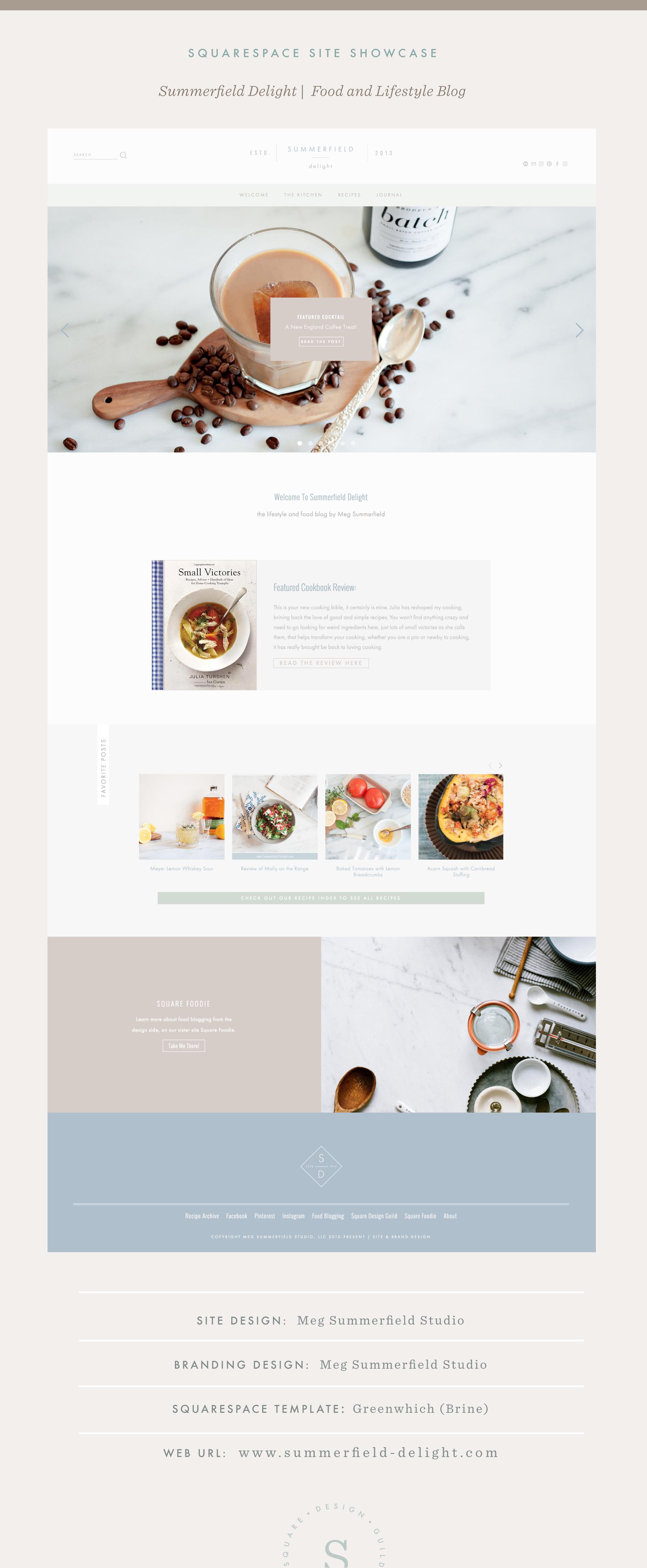 Squarespace Site Showcase   Food Blog Design   Summerfield Delight   Brine Template   Squarespace Food Blog