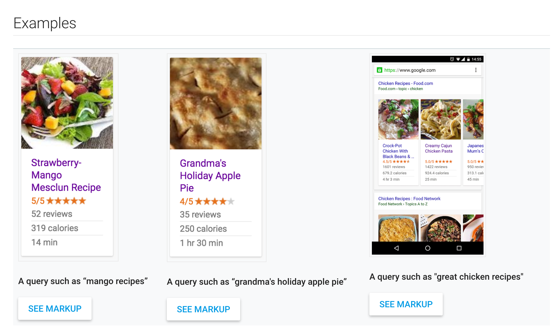 Creating Google Recipes in Squarespace