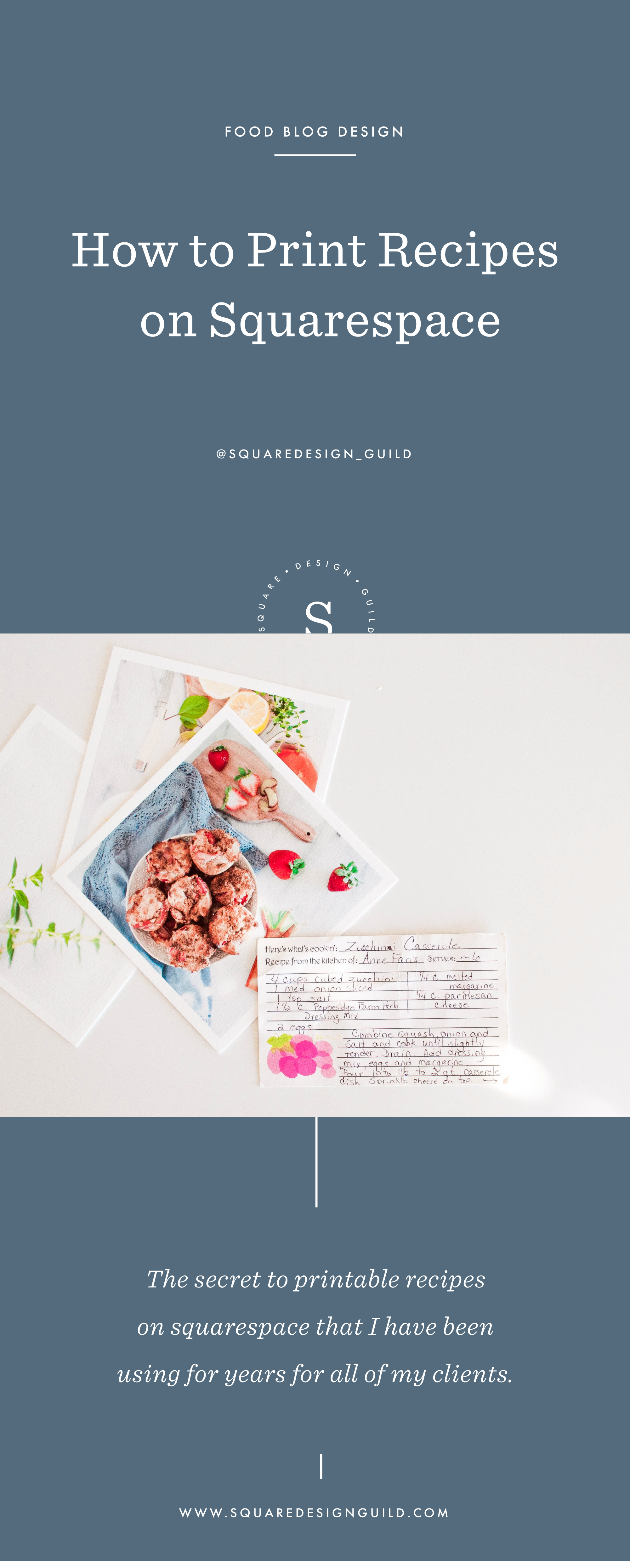 How to Print a Recipe on Squarespace