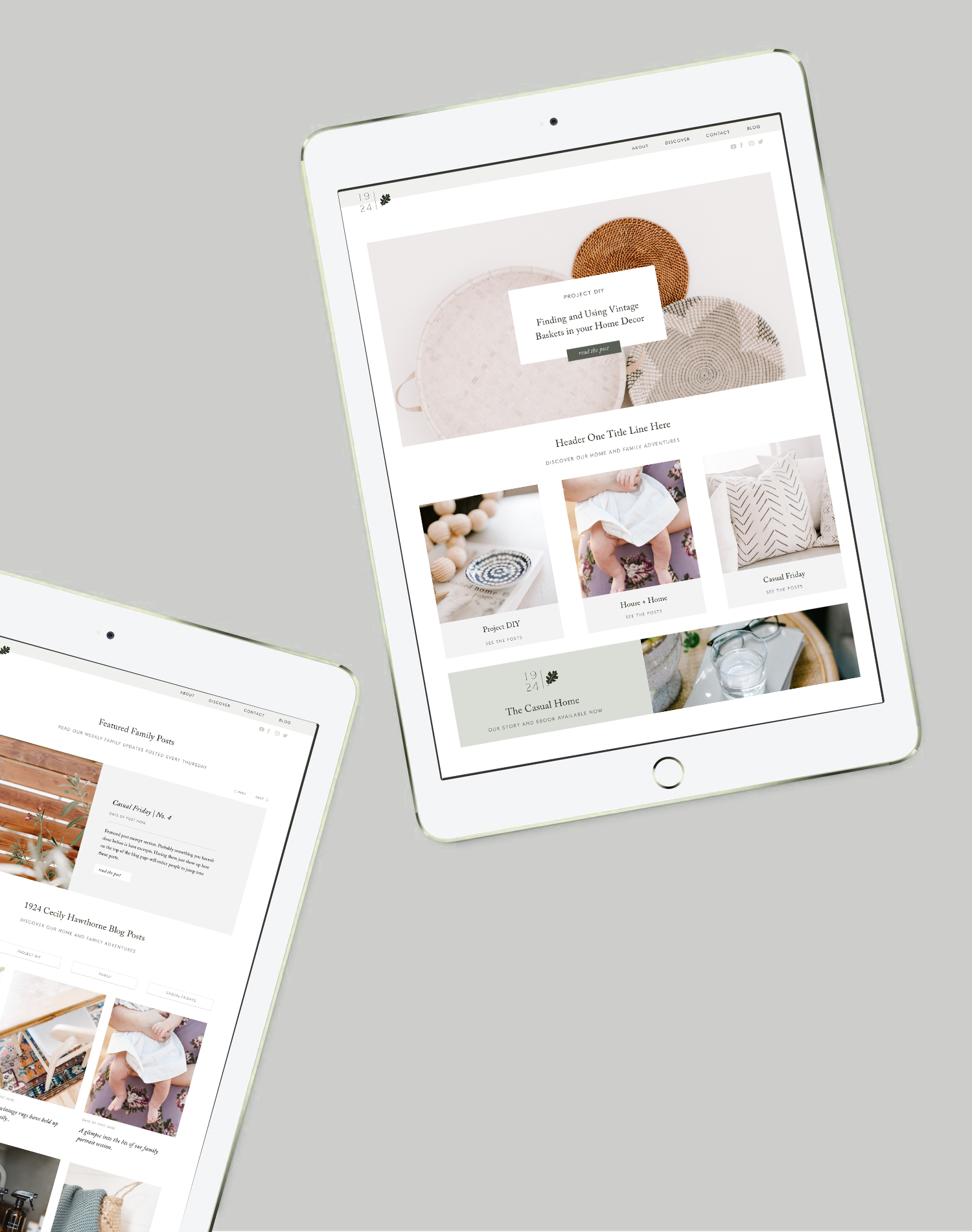 Modern and Minimal Template for Squarespace Bloggers