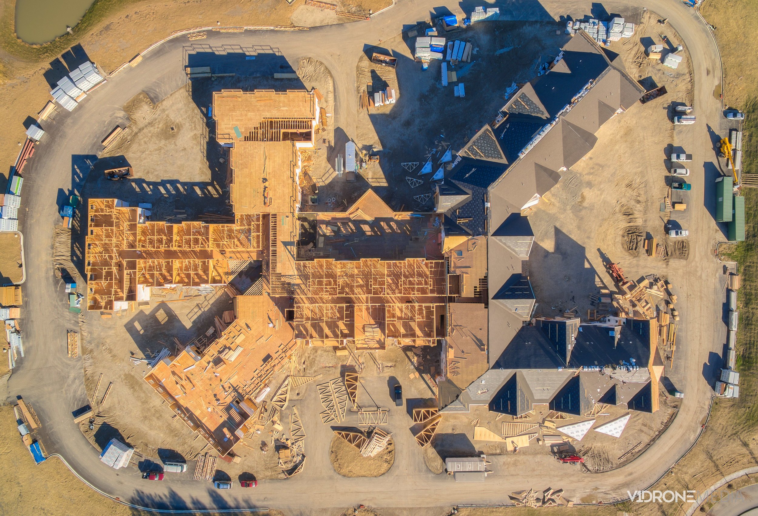 Bird's Eye View Of Construction Sites