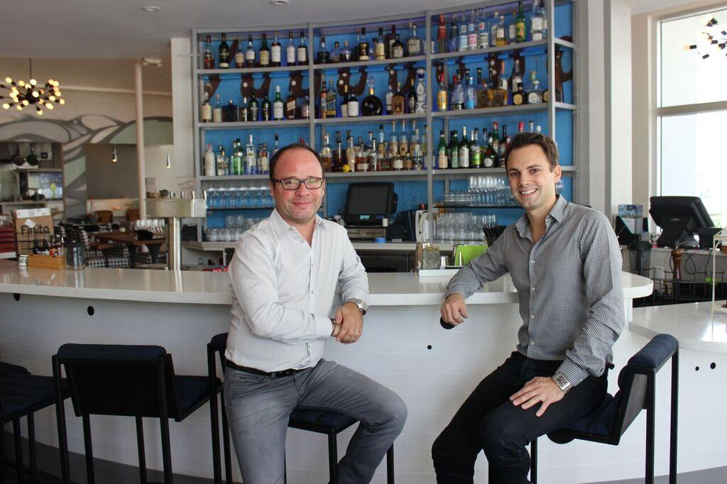 Fabien Chalard y Julien Géliot, socios y propietarios de Vagabond Kitchen and Bar.
