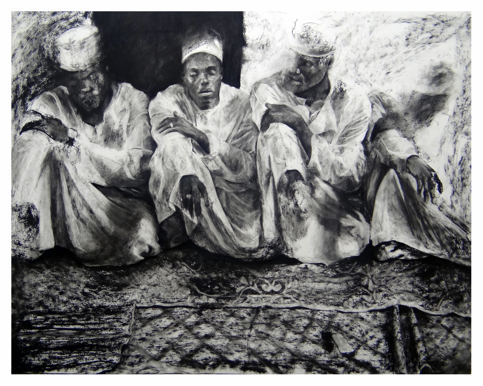 Shwari  Charcoal and carbon on paper  153cm x 122cm  2014