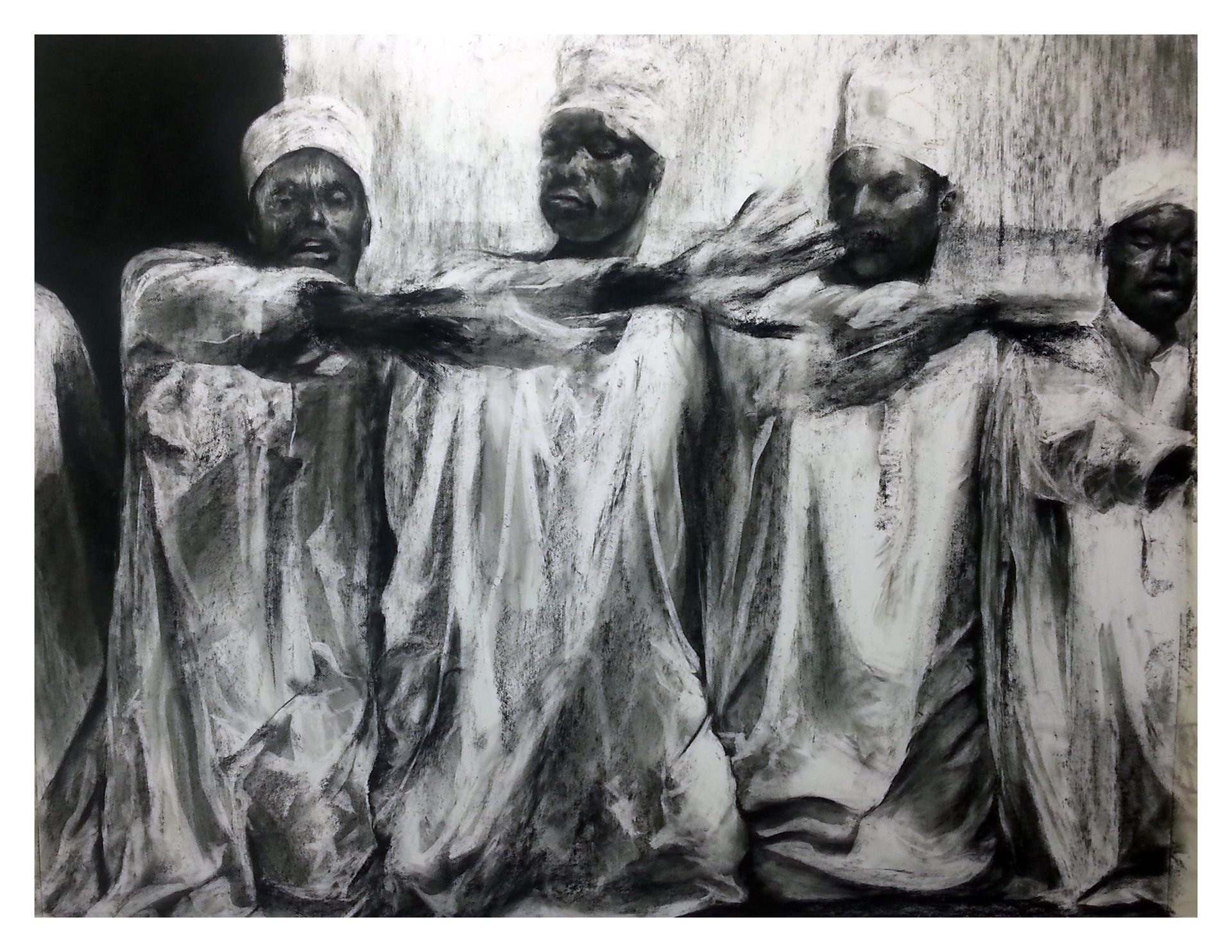 Damani  Charcoal and carbon on paper  153cm x 122cm  2014