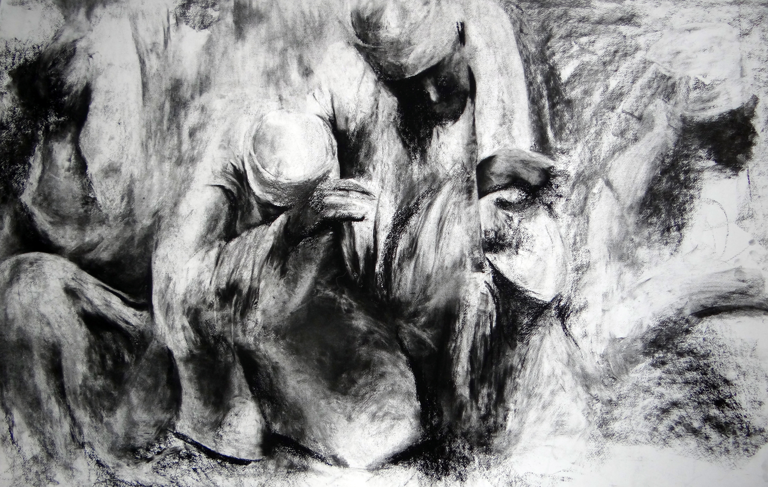 Untitled  Charcoal and carbon on paper  122cm x 76.5cm  2014