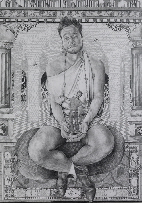 Victor  Pencil on paper  122cm x 153cm  2008