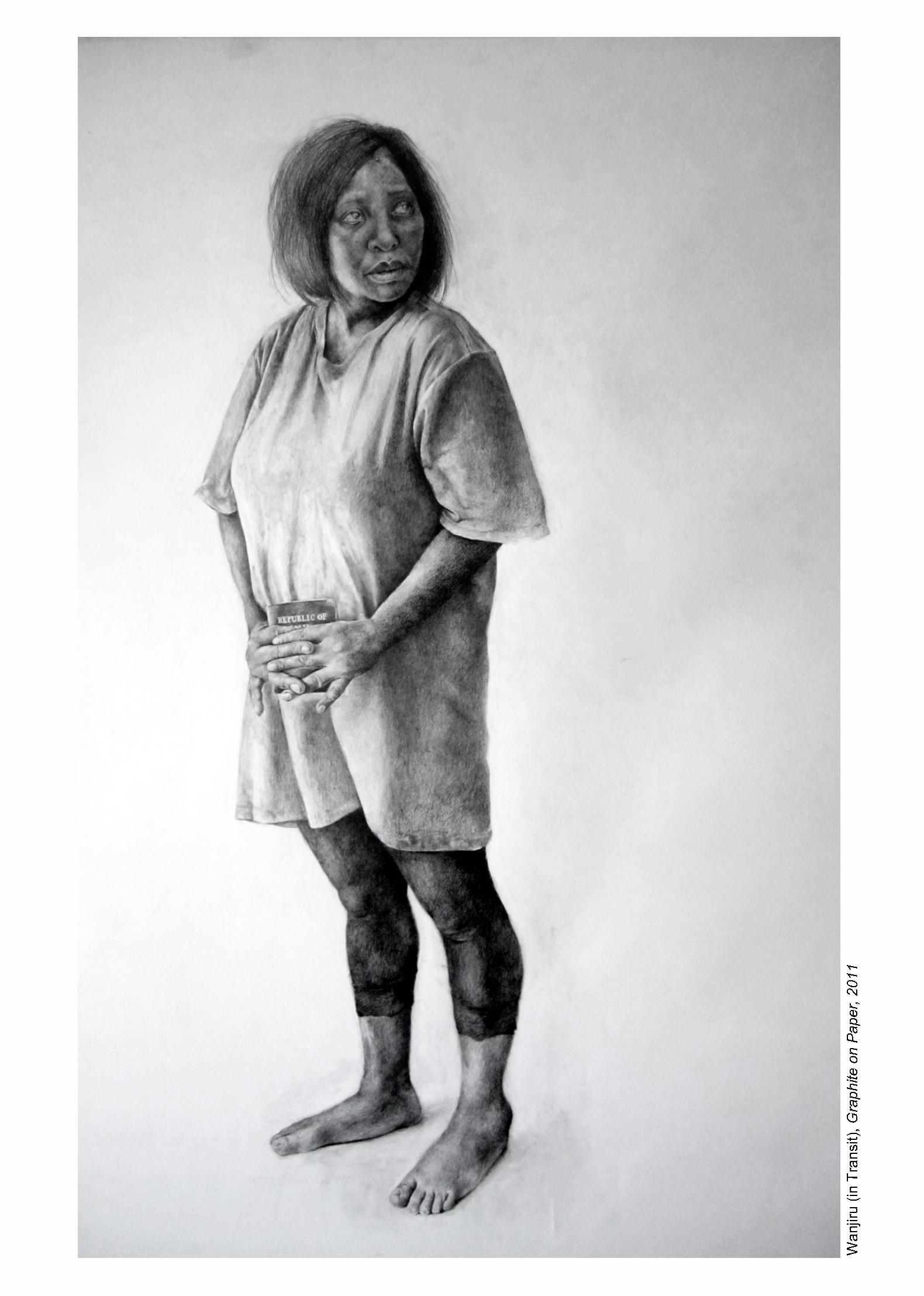 Wanjiru (In Transit)  Pencil on paper  122cm x 153cm  2011