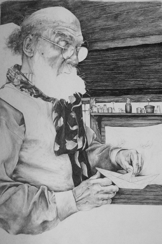 The Boatmaker  Pencil on Paper  136cm x 70cm  2007