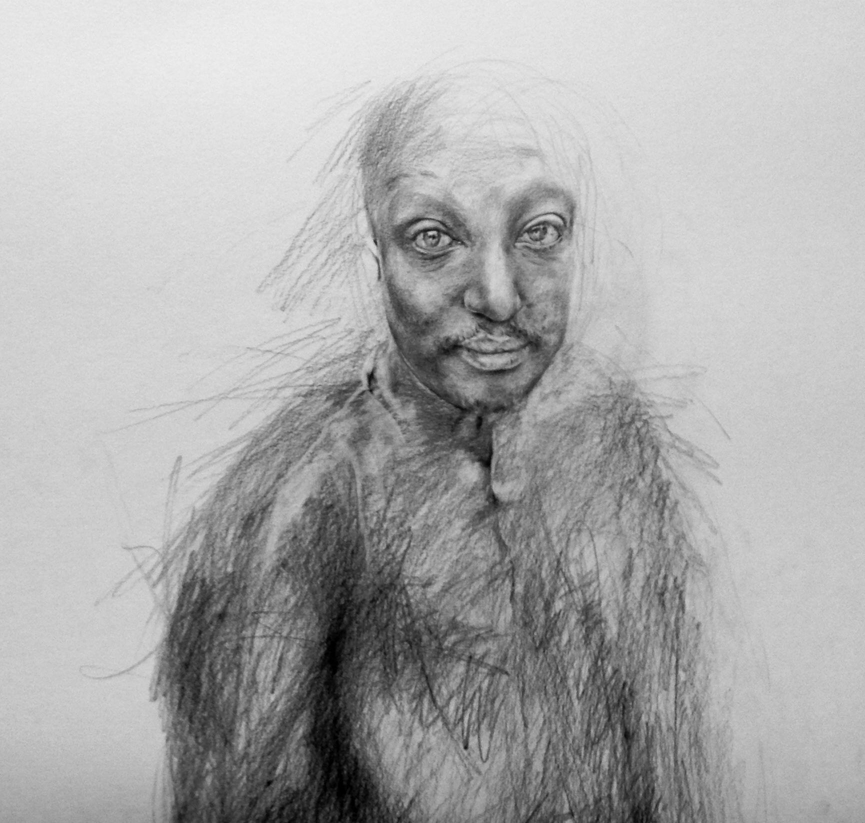 Binyavanga Wainaina  Pencil on Paper  122cm x 122cm  2014