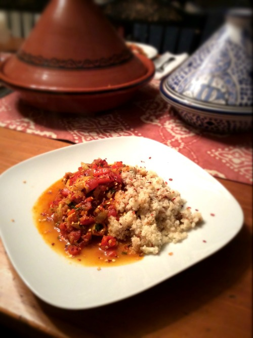 Tagine Of Baby Calamari With Red Pepper And Tomato