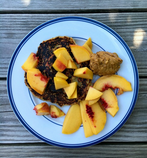 Protein Pancakes with Nectarines