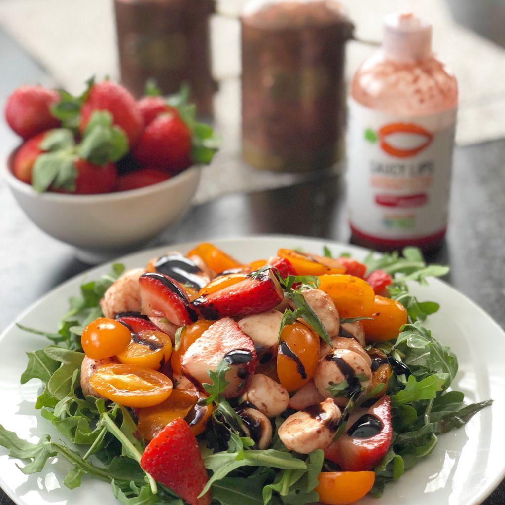 Strawberry Balsamic Caprese Salad