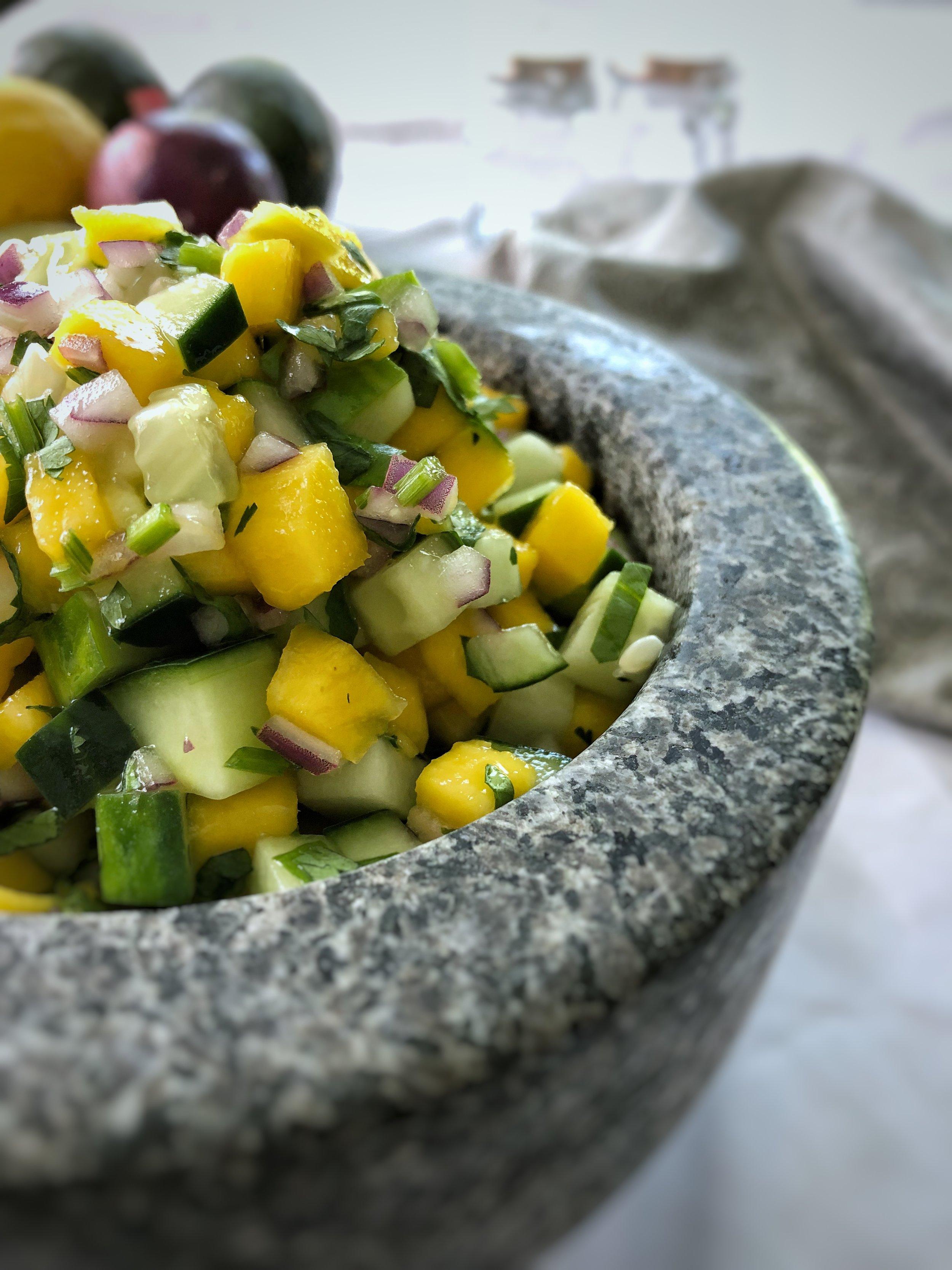 Mango Cucumber Salsa