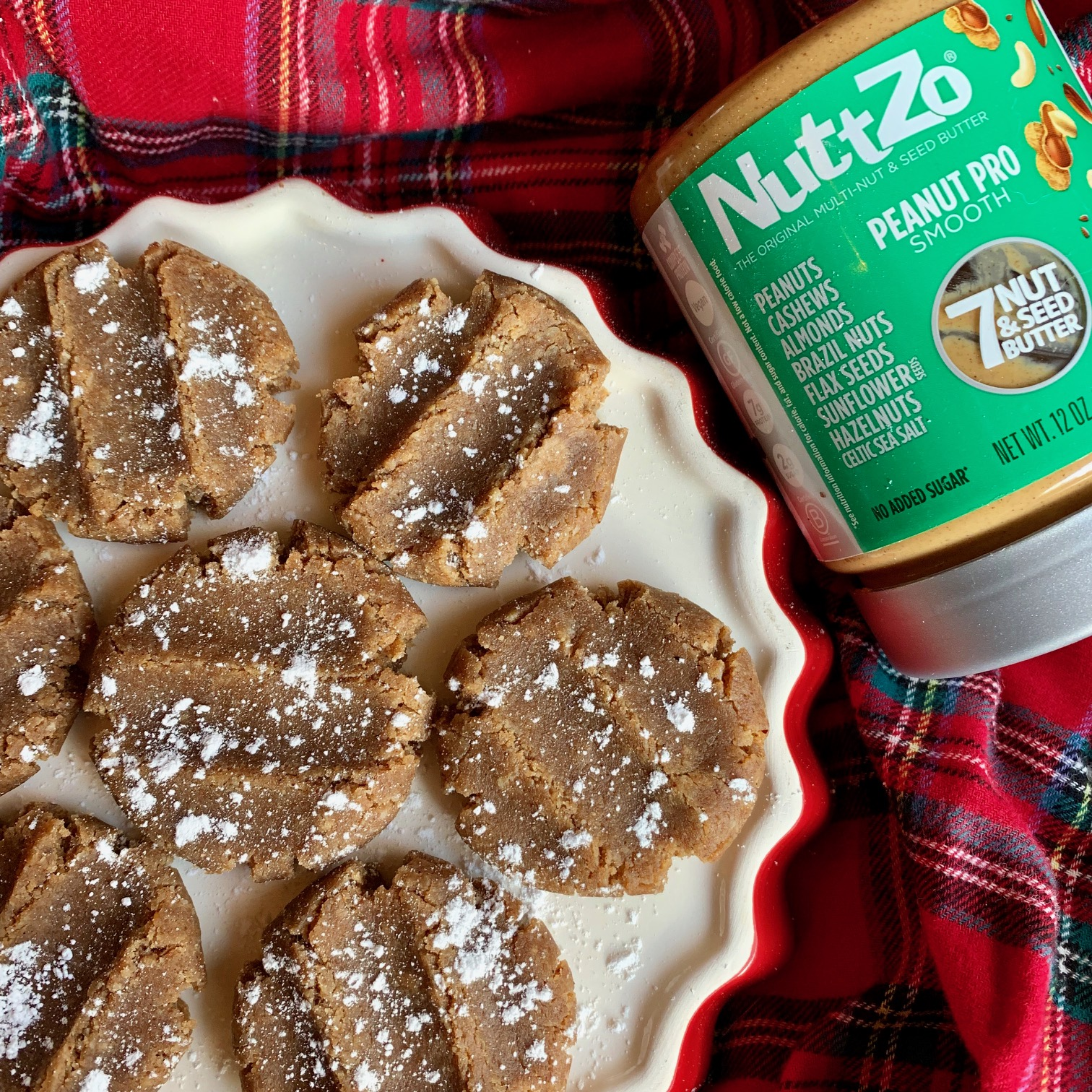 No Bake Peanut Pro NuttZo Gingerbread Cookies