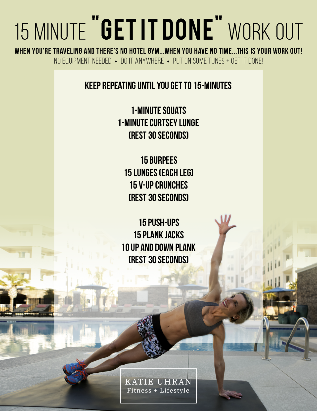 "15 Minute ""GET IT DONE"" Workout"