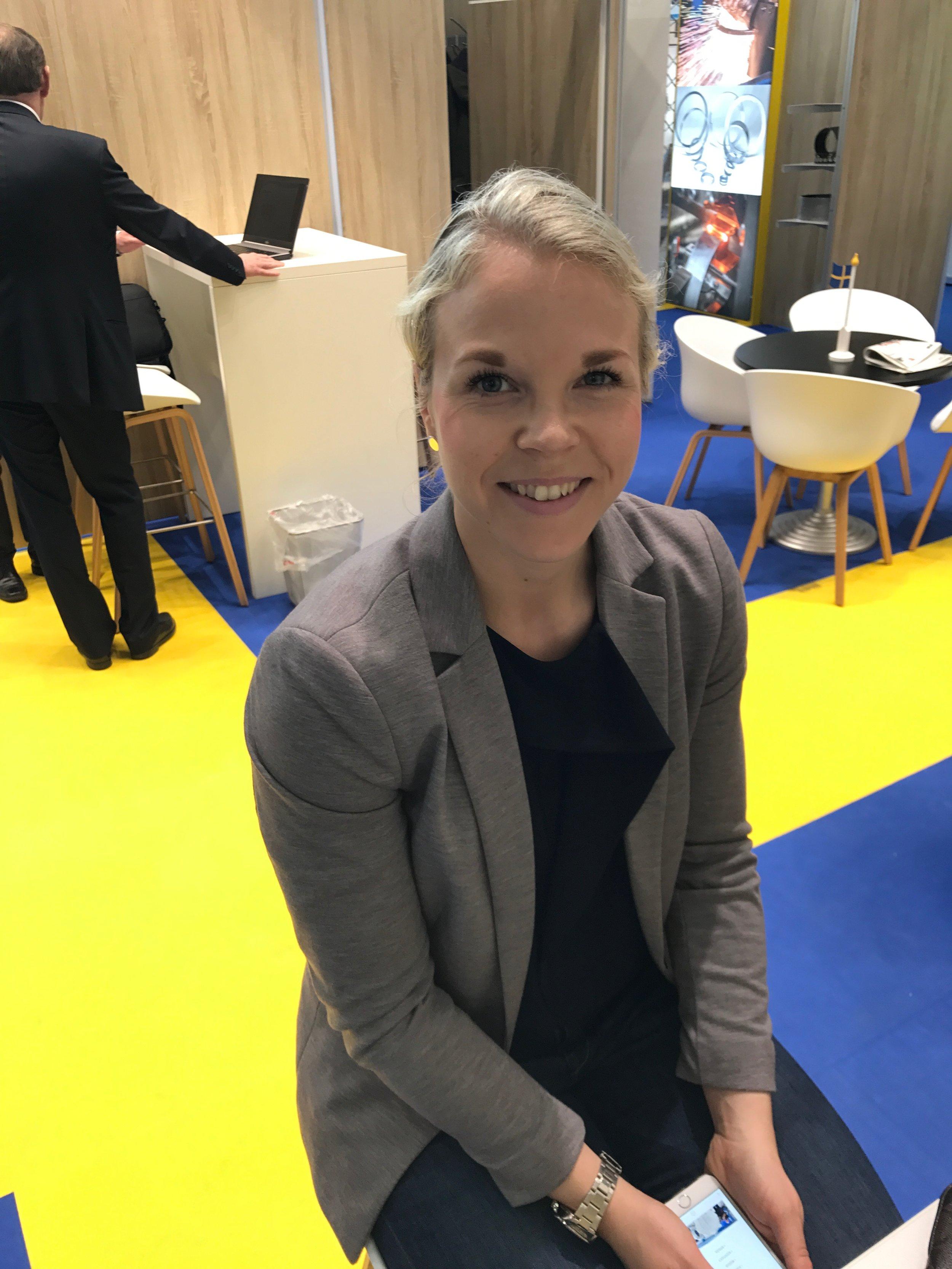 Johanna Rahm från elmia bistod oss utställare på plats i mässan med entusiasm och engagemang.