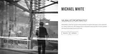 Squarespace artist website