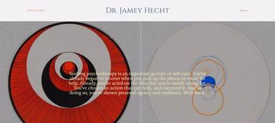 Dr. Jamey Hecht Squarespace website | Marksmen Studio