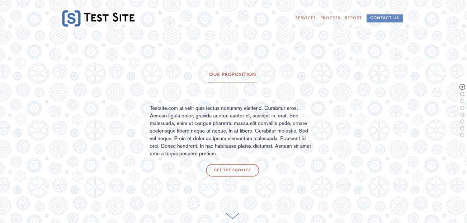 An example of using an CSS background pattern on a site in Squarespace.