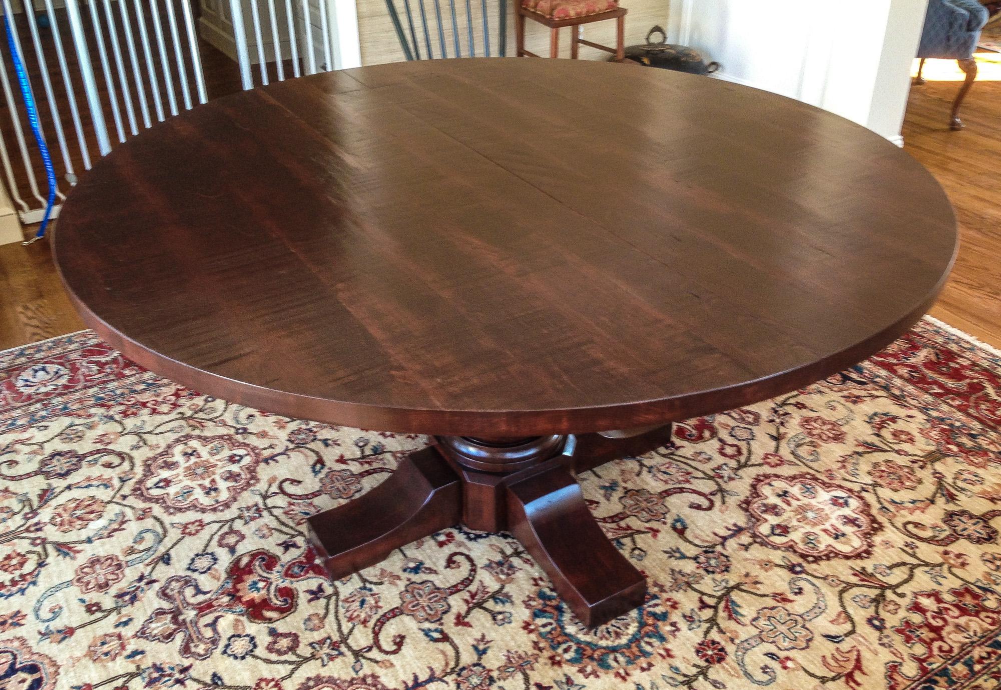 Round Dining Table, Pedestal Base