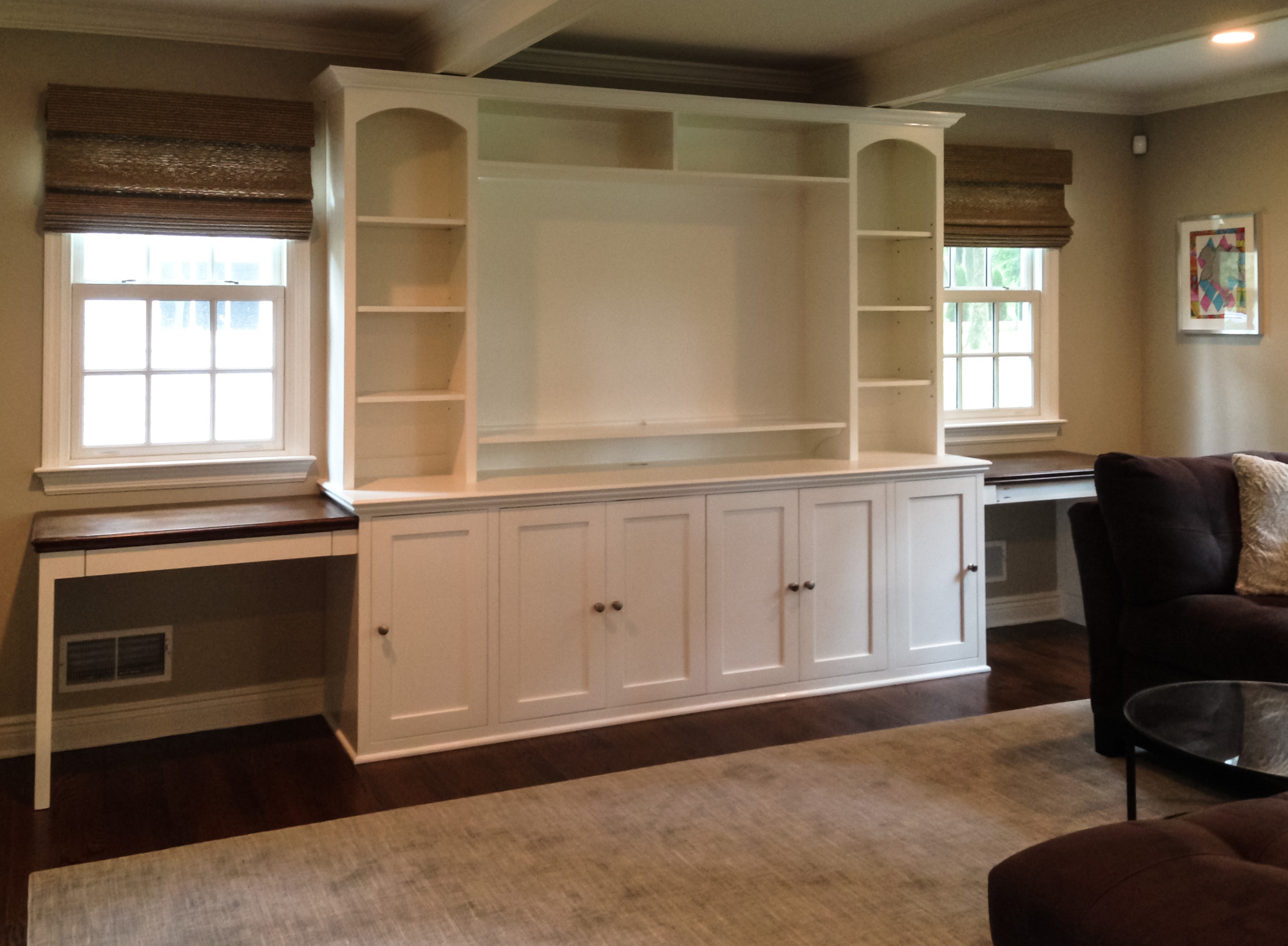 Built-In Custom Entertainment Cabinetry
