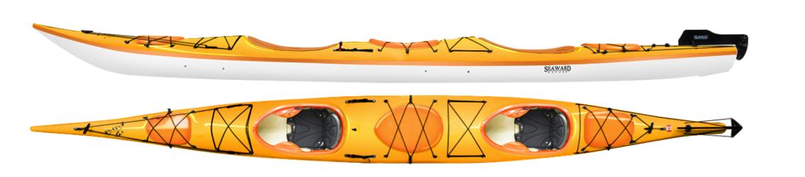 "Seaward Passat G3   Length : 22'.  Beam : 26""/66cm  Bow Volume:  64L.  Stern Volume : 94L.  Center Volume : 180L.  Weight : 90lbs/40.8k g"