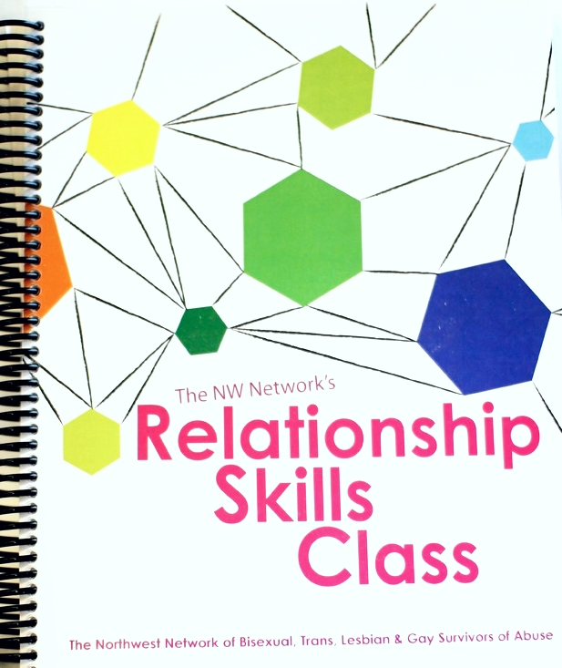 PICTURED: physical copy of the Relationship Skills Class Curriculum