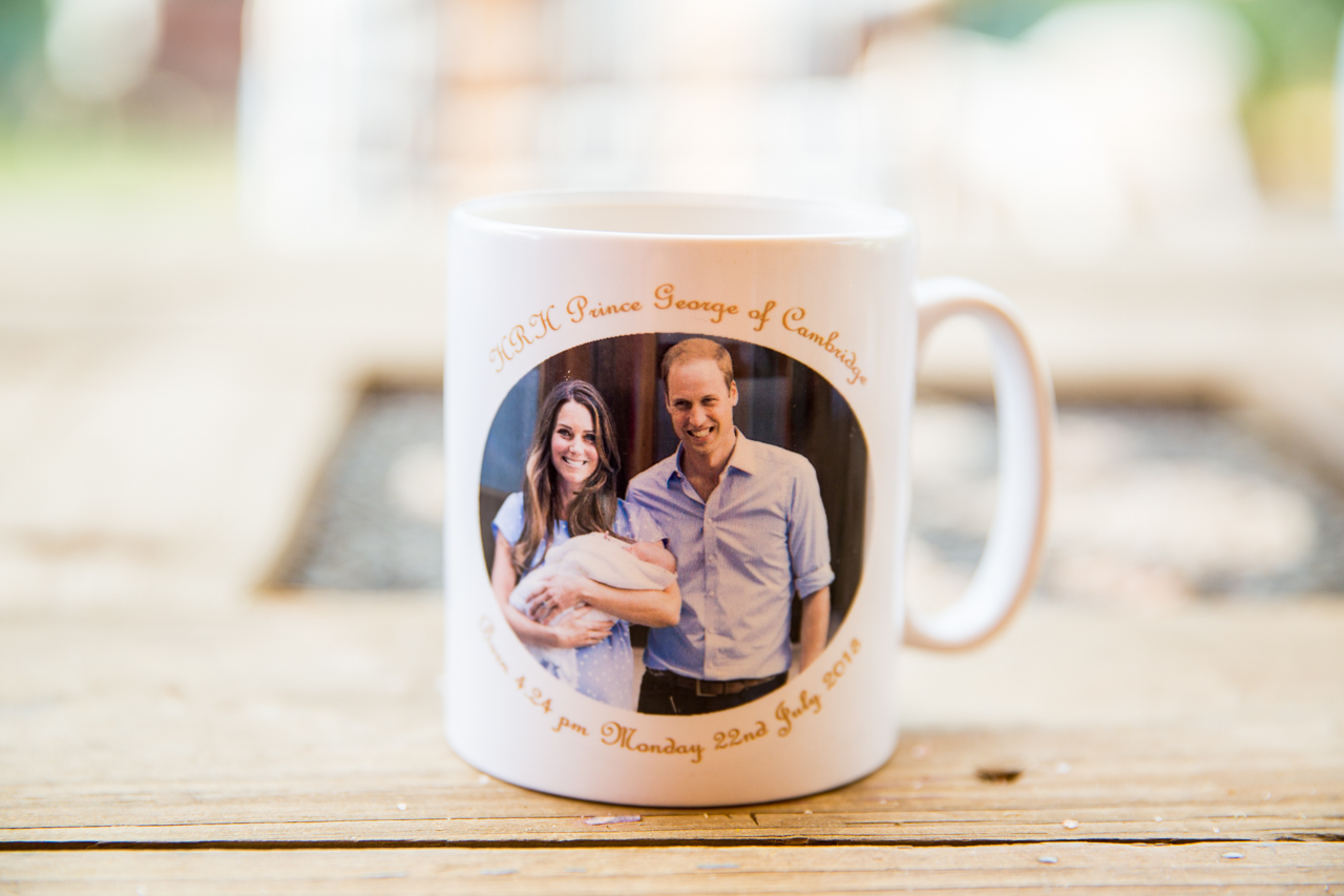 My Prince George mug is a favourite for my morning cuppa