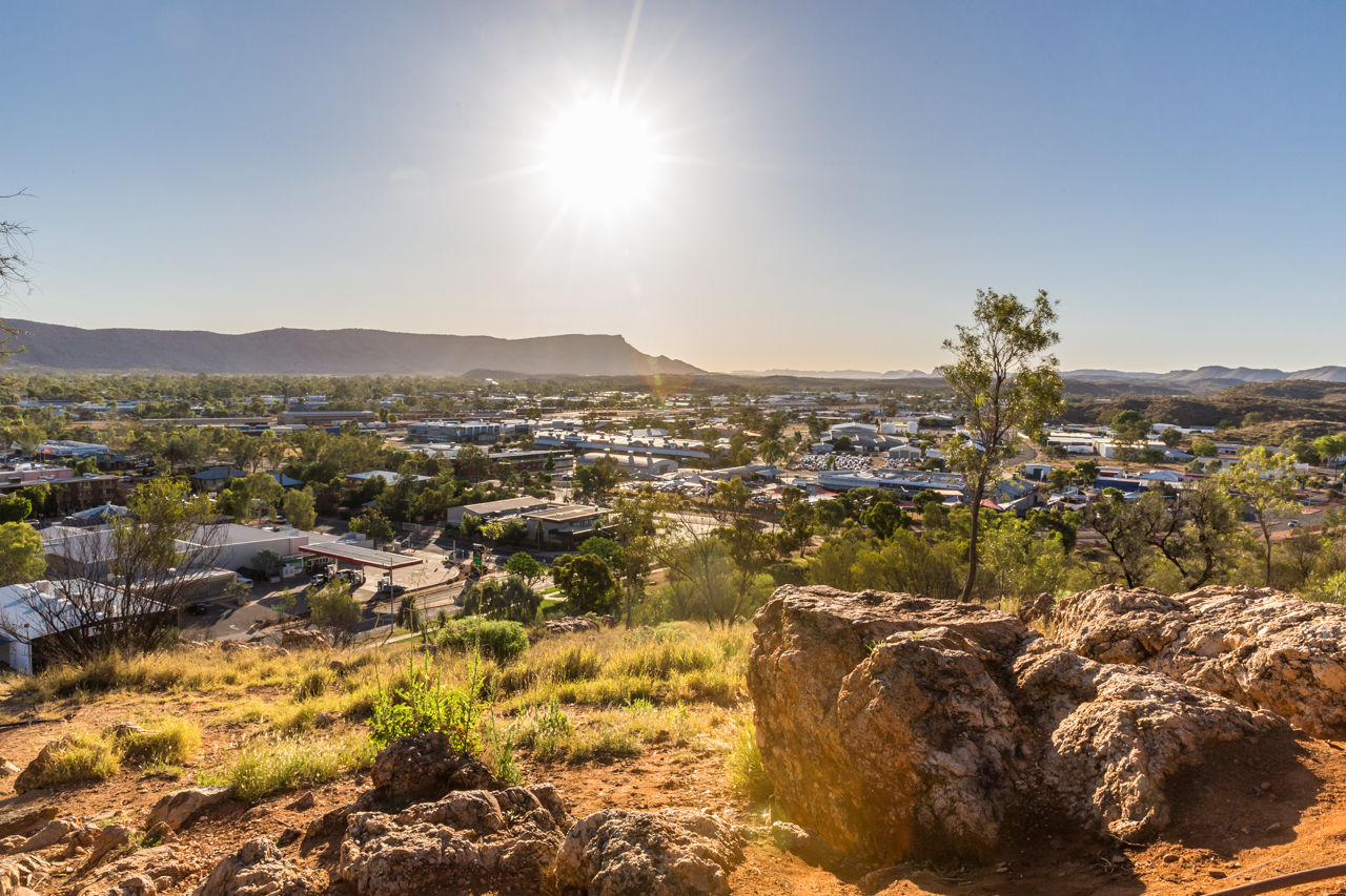 The view over Alice Springs on my way to the top of ANZAC Hill